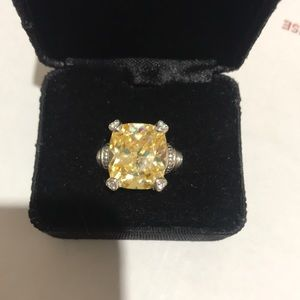 Gorgeous Judith Ripka Citrine Ring Size 7